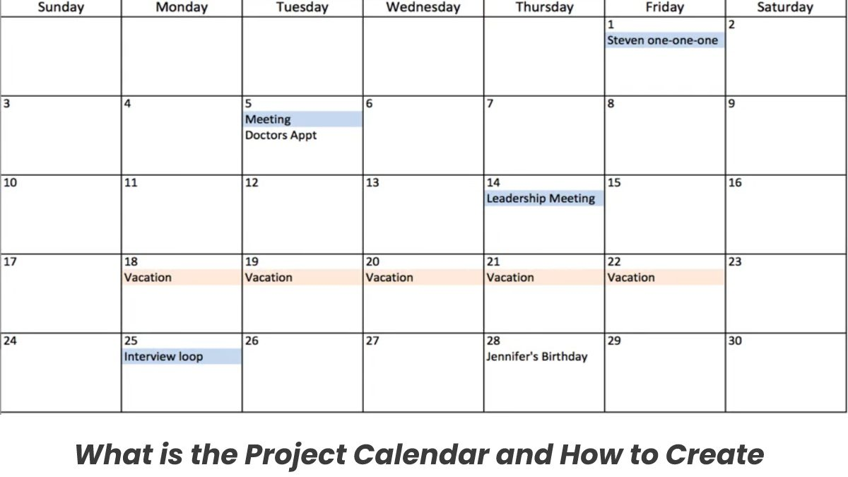 What is the Project Calendar and How to Create