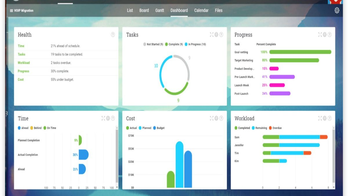 Project Management Dashboard – Examples of Project Status Dashboard